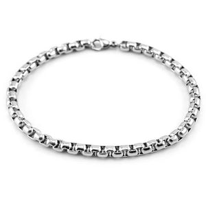 Classy Men Stainless Steel Box Chain Bracelet
