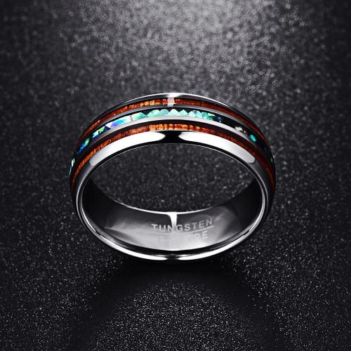Classy Men Tungsten Koa Wood Ring - Classy Men Collection