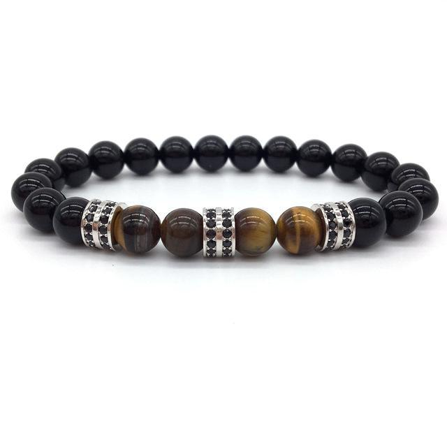 Classy Men Beaded Pavé Bracelet - Classy Men Collection