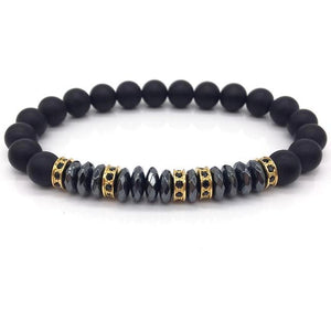 Classy Men Formal Beaded Pavé Bracelet - Classy Men Collection