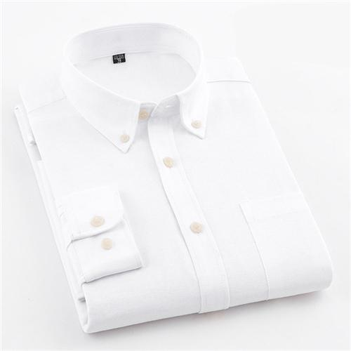 Plain White Oxford Dress Shirt | Regular Fit | Sizes 38-44