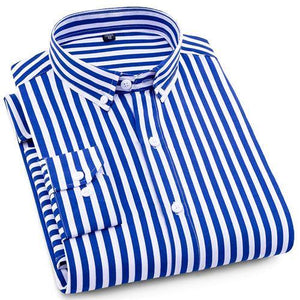 Blue Striped Casual Dress Shirt | Modern Fit | Sizes 38-44 - Classy Men Collection