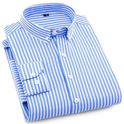 Striped Casual Dress Shirt | Modern Fit | Sizes 38-44