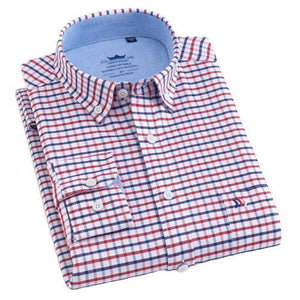 Red Fine Checkered Oxford Dress Shirt | Regular Fit | Sizes 38-44