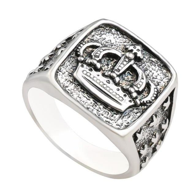 Classy Men Silver Crown Ring - Classy Men Collection