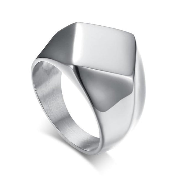 Classy Men Minimalist Signet Ring Silver - Classy Men Collection