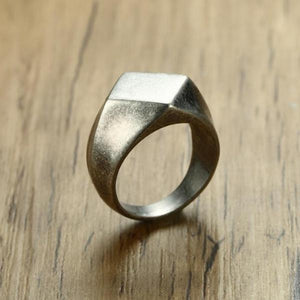 Classy Men Minimalist Signet Ring - Classy Men Collection