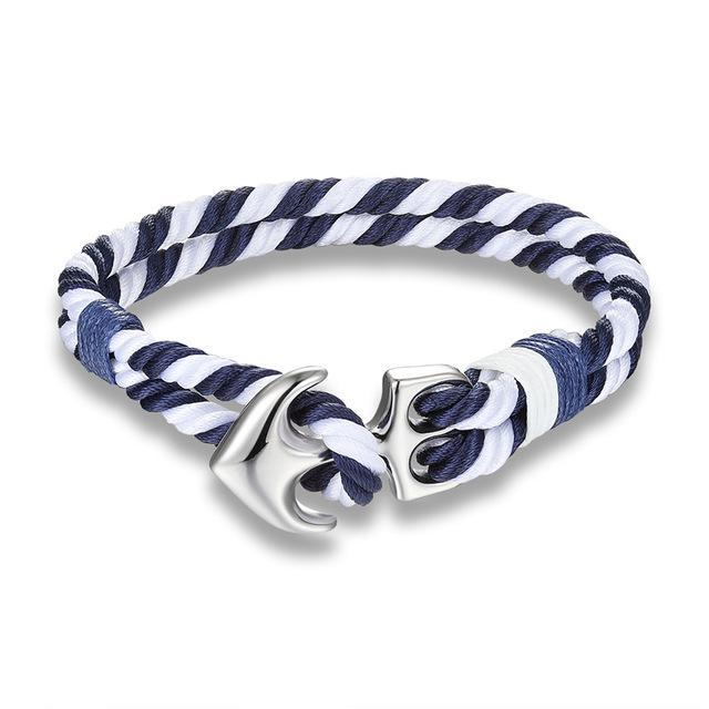Classy Men Striped Anchor Bracelet | 3 Styles - Classy Men Collection