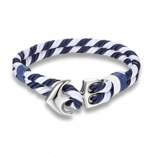 Classy Men Red & White Anchor Bracelet - Classy Men Collection