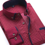 Casual Burgundy Dress Shirt | Slim Fit | Sizes 38-45 - Classy Men Collection
