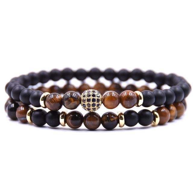 Classy Men Brown Sub Zero Bracelet Set - Classy Men Collection