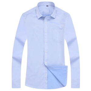 Light Blue Twill Dress Shirt | Modern Fit | Sizes 38-48