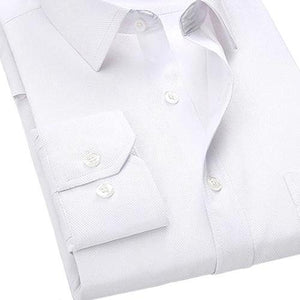 White Twill Dress Shirt | Modern Fit | Sizes 38-48