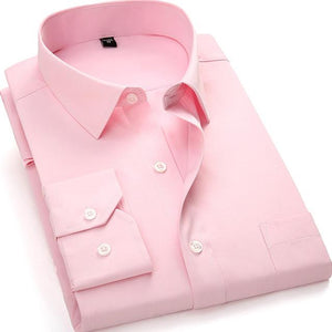Basic Pink Dress Shirt | Modern Fit | Sizes 38-48 - Classy Men Collection