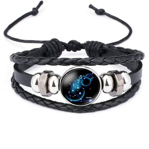 Classy Men Aquarius Constellation Zodiac Bracelet - Classy Men Collection