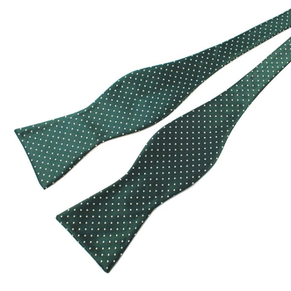 Classy Men Green Dotted Silk Self-Tie Bow Tie - Classy Men Collection