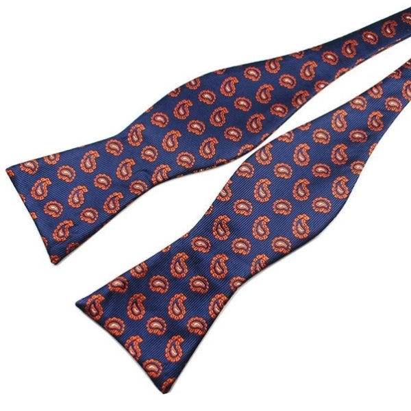 Classy Men Fire Droplet Silk Self-Tie Bow Tie - Classy Men Collection