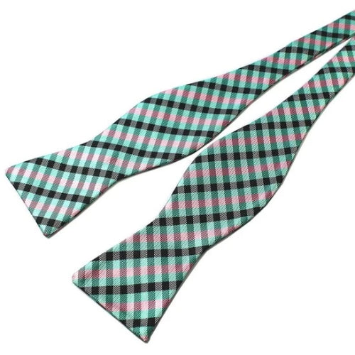 Classy Men Mint Green Silk Self-Tie Bow Tie