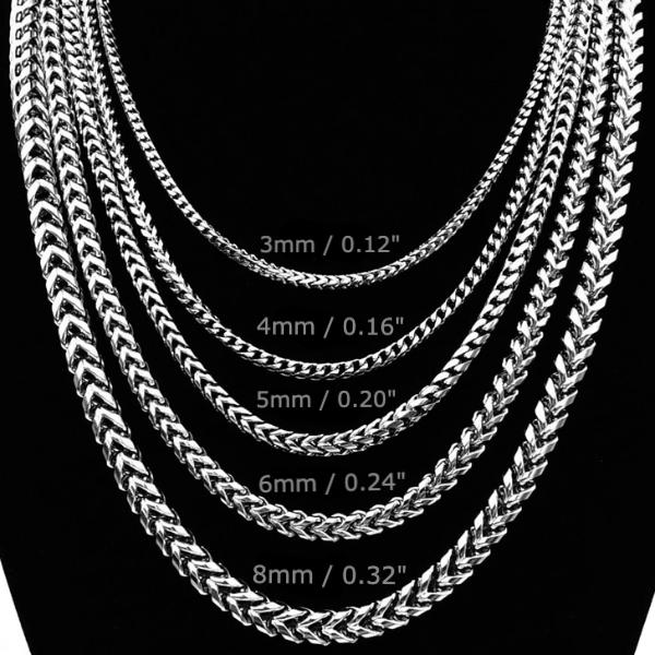 Classy Men 5mm Silver Franco Chain Necklace