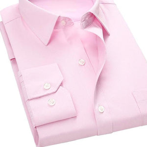 Pink Twill Dress Shirt | Modern Fit | Sizes 38-48