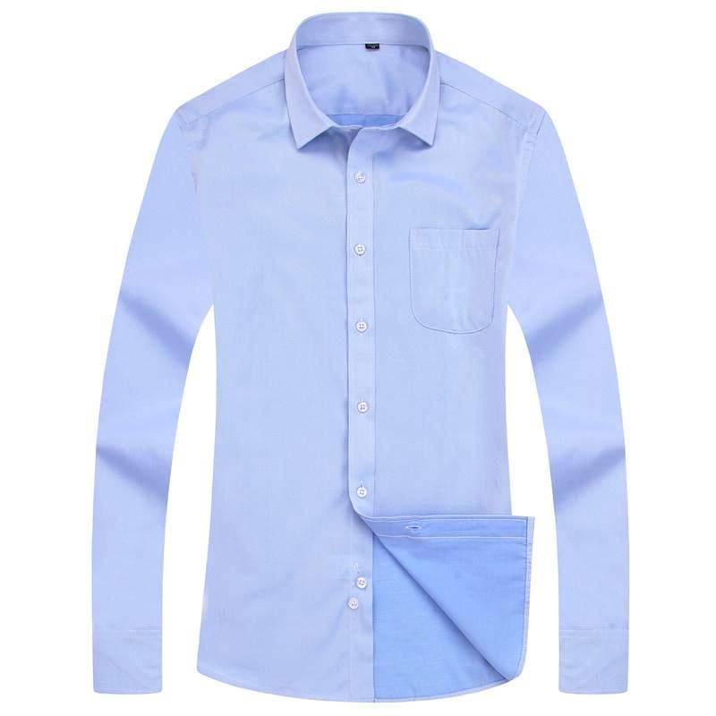 Basic Light Blue Dress Shirt | Modern Fit | Sizes 38-48 - Classy Men Collection