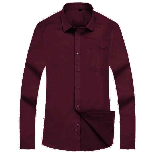 Formal Burgundy Dress Shirt | Modern Fit | Sizes 38-44 - Classy Men Collection