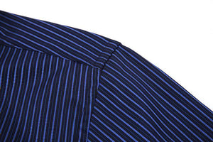 Navy Blue Striped Dress Shirt | Modern Fit | Sizes 38-48