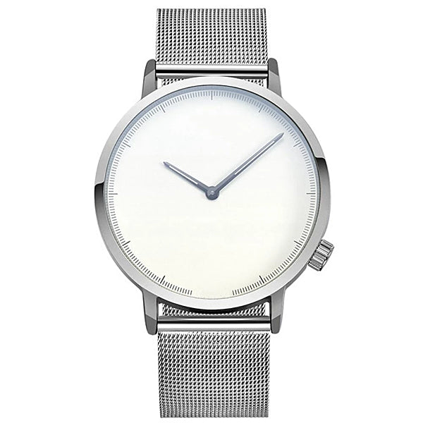 Classy Men Watch Clean Silver/White - Classy Men Collection
