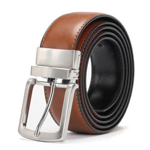 Classy Men Reversible Leather Belt Brown - Classy Men Collection