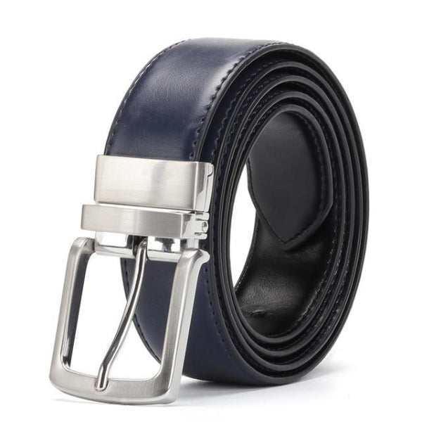 Classy Men Reversible Leather Belt Blue - Classy Men Collection