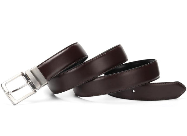 Classy Men Reversible Leather Belt Dark Brown - Classy Men Collection