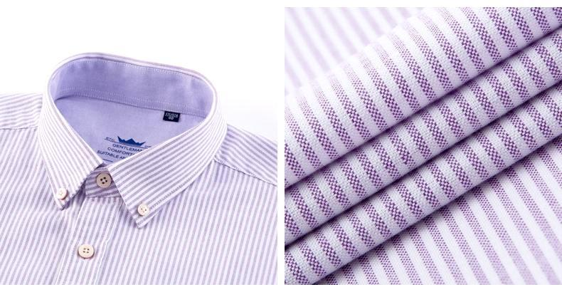 Light Purple Striped Oxford Dress Shirt | Regular Fit | Sizes 38-44