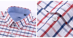 Red Checkered Oxford Dress Shirt | Regular Fit | Sizes 38-44