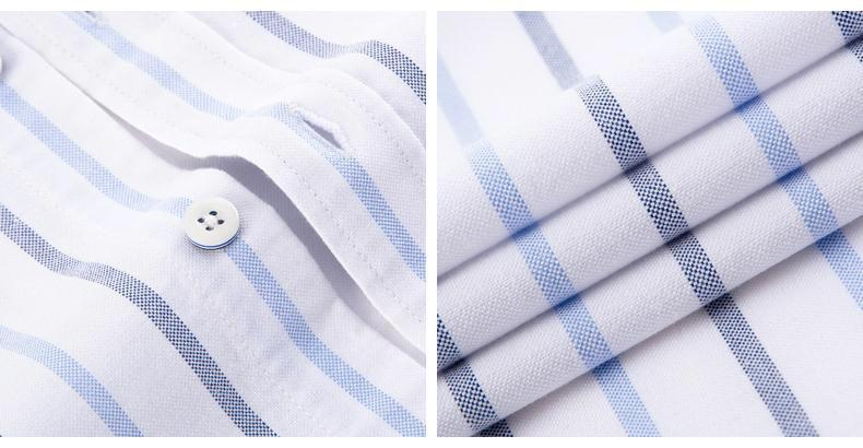 White Striped Oxford Dress Shirt | Regular Fit | Sizes 38-44