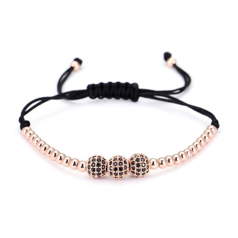 Classy Men Bracelet Triple Rose Gold - Classy Men Collection