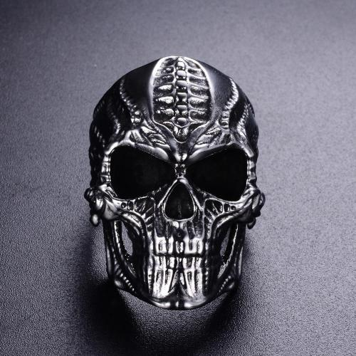 Classy Men Large Skull Ring Silver - Classy Men Collection