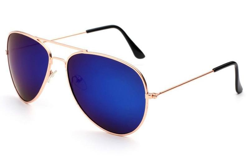 Classy Men Sunglasses Aviator Blue Gold - Classy Men Collection