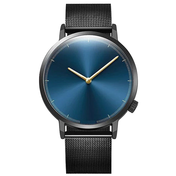 Classy Men Watch Clean Black/Blue - Classy Men Collection