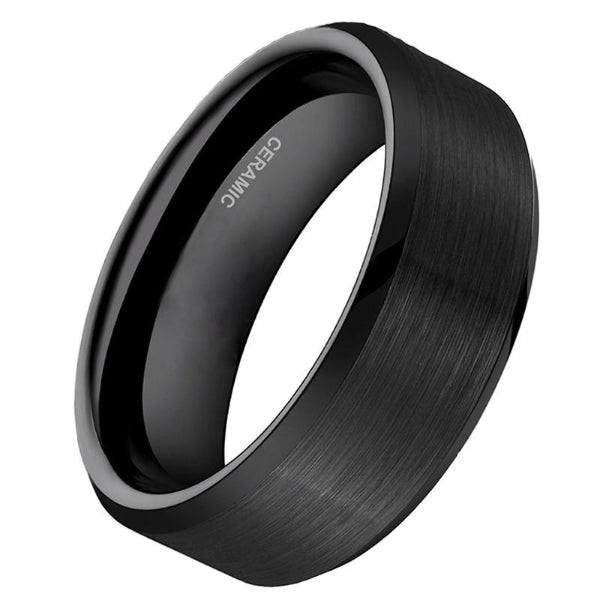 Classy Men Black Ceramic Ring - Classy Men Collection