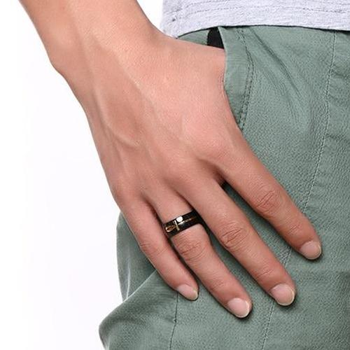 Classy Men Egyptian Black Gold Ring - Classy Men Collection