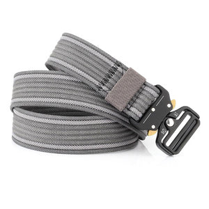 Classy Men Grey Nylon Web Belt - Classy Men Collection