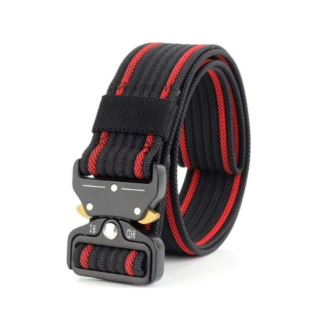 Classy Men Red Nylon Web Belt - Classy Men Collection