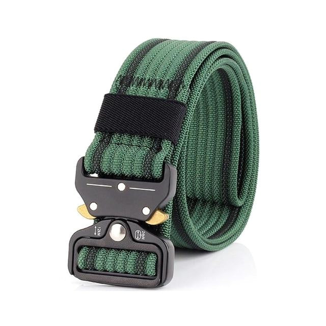 Classy Men Green Nylon Web Belt - Classy Men Collection