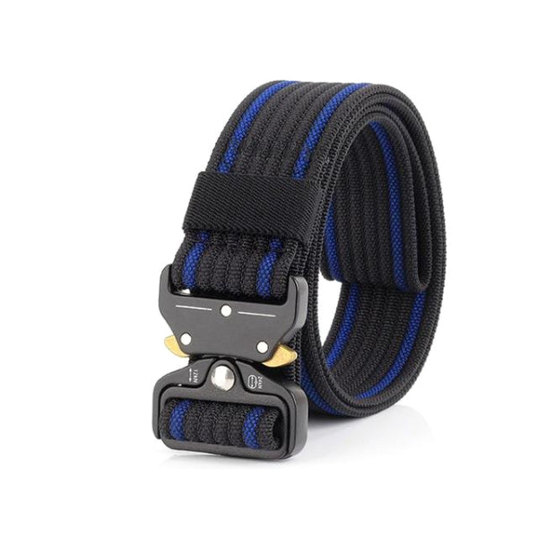 Classy Men Blue Nylon Web Belt - Classy Men Collection