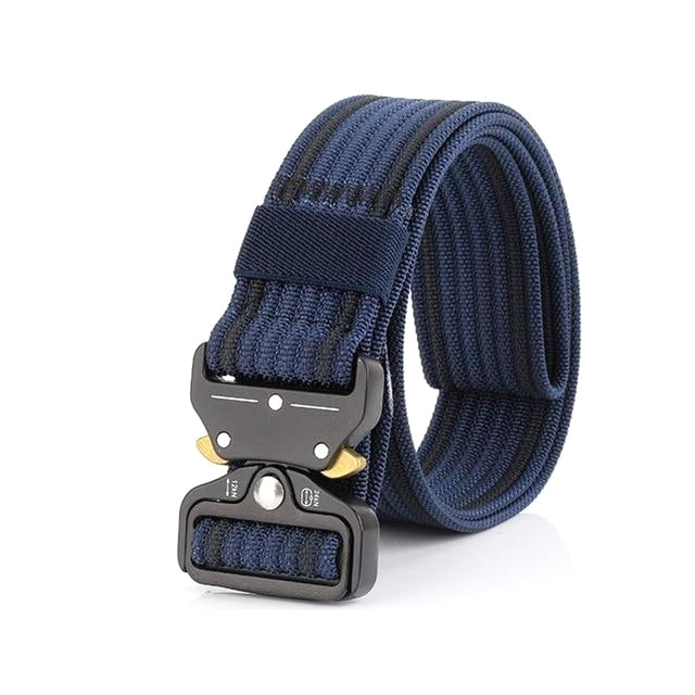 Classy Men Navy Blue Nylon Web Belt - Classy Men Collection