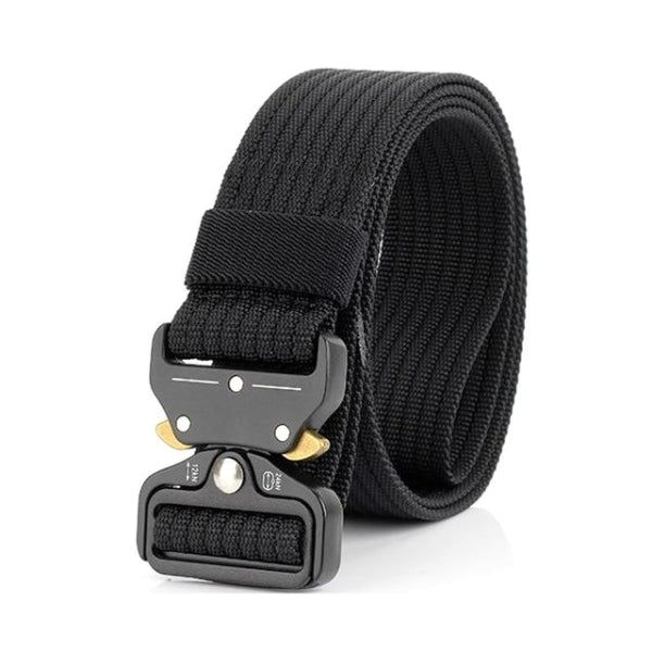 Classy Men Black Nylon Web Belt - Classy Men Collection