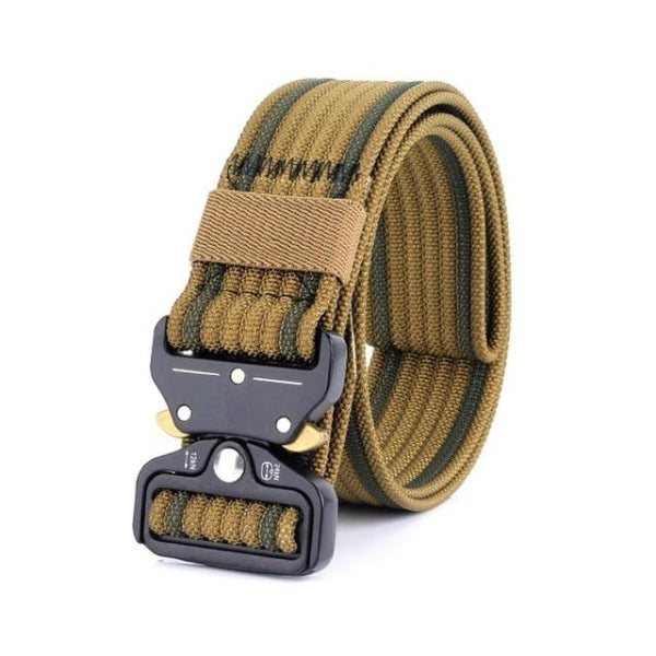 Classy Men Brown Nylon Web Belt - Classy Men Collection
