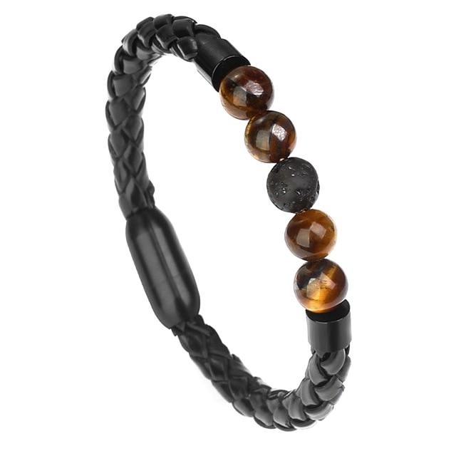 Classy Men Beaded Leather Bracelet - Classy Men Collection