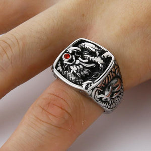 Classy Men Dragon Signet Ring Silver - Classy Men Collection