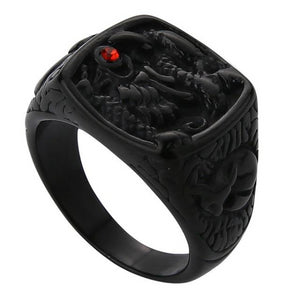 Classy Men Dragon Signet Ring Black - Classy Men Collection